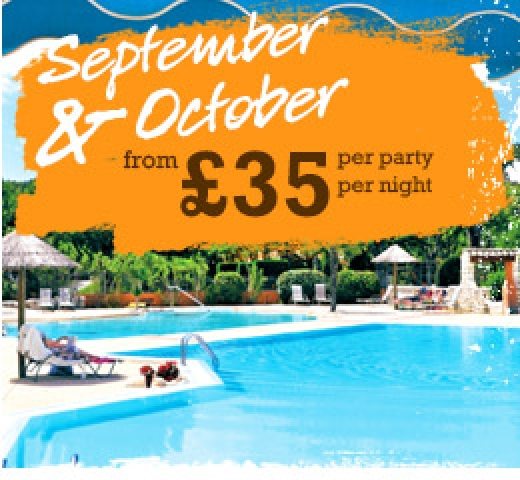 September & October from £35 per party per night