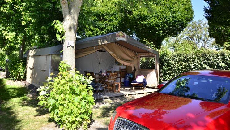 Camping In France - Safari Tent