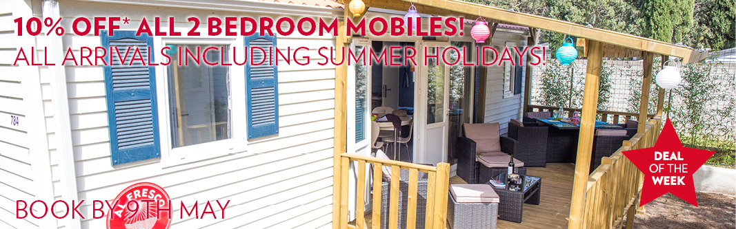 Al Fresco Extra 10% Off 2 Bedroom Mobile Home Holidays
